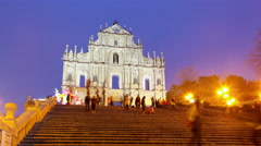 The Ruins of the Cathedral of Saint Paul Stock Footage