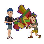 Stock Illustration of Graffiti artists cartoon