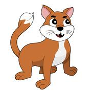 Stock Illustration of Ginger cat cartoon