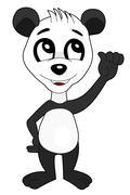 Cute panda cartoon Stock Illustration