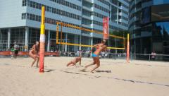 Beach Volleyball for Women Stock Footage