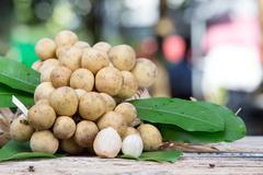 Lansium demesticum Corr fruit - stock photo