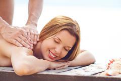 Summer resort spa Stock Photos
