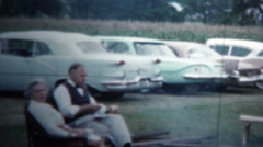 1958 - Outdoor Picnic Cookout Party Stock Footage
