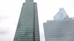 Workers in Paris, business people location, district for money head office place - stock footage