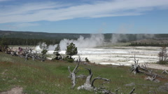 Clepsydra Geyser Fountain Paint Pot Yellowstone 4K Stock Footage