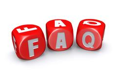 Frequently asked questions dices - stock illustration