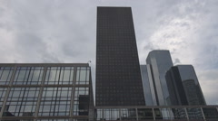 Stock Video Footage of Head office, headquarters, corporation area, Paris La Defense french office work
