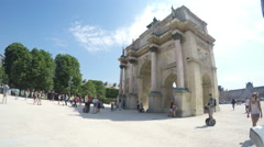 Arc de Triomphe du Carrousel - stock footage