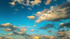Clouds in the blue sky, time-lapse Stock Footage