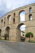 Aqueduct Kavala - stock photo