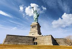 Statue of Liberty in New York City, USA. Stock Photos