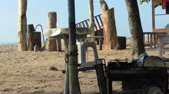 Sanur beach bbq Stock Footage