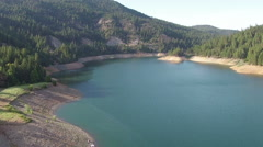 Aerial Flying Over a Mountain Lake 9 Stock Footage
