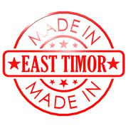 Stock Illustration of Made in East Timor red seal