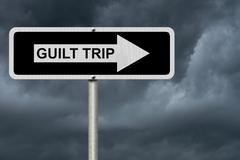 Guilt Trip this way - stock photo