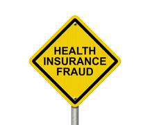 Health Insurance Fraud Warning Sign Stock Illustration