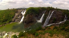 Fly towards water fall Stock Footage