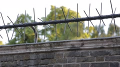 Security fence at St James Palace Stock Footage