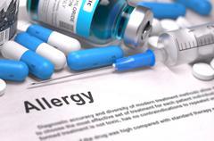 Diagnosis - Allergy. Medical Concept. 3D Render Stock Illustration