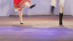 Russian folk dance on stage Stock Footage