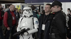 Stormtrooper at Comic Con 2015 Stock Footage