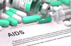Stock Illustration of AIDS Diagnosis. Medical Concept
