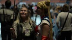Selfie with Sailor Moon at Comic Con 2015 Stock Footage