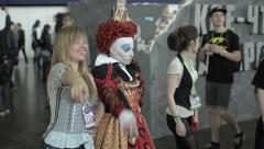 Queen of Hearts at Comic Con 2015 Stock Footage