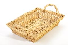 Above View of Rectangular Woven Wicker Basket Stock Photos