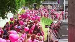 Editorial - Avon breast cancer awareness walk Stock Footage