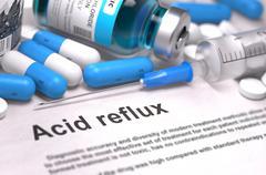 Diagnosis - Acid Reflux. Medical Concept - stock illustration