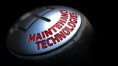 Maintenance Technologies on Car's Shift Knob - stock illustration