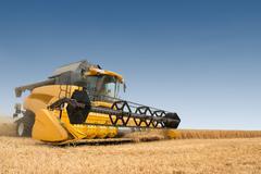 Modern combine harvester Stock Photos