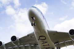 Qatar Airlines Airbus A380 Stock Photos