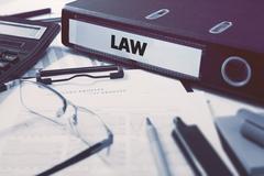 Office folder with inscription Law - stock illustration