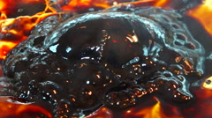 Caramel : sugar burned and boiling. Stock Footage