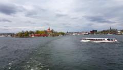 STOCKHOLM, SWEDEN JUNE 2015: Cruising in the Stockholm Archipelago. Stock Footage