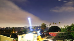 4K time lapse of LAPD Helicopter Searching for Suspect at Night -Long Shot- Stock Footage