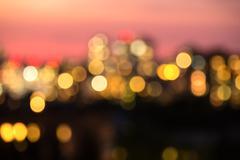 Photo blur bokeh night lights Kiev Stock Photos