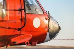 Orange military helicopter Kuvituskuvat