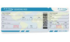 Pattern of airline boarding pass ticket Piirros