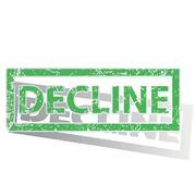 Green outlined DECLINE stamp Stock Illustration