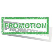Stock Illustration of Green outlined PROMOTION stamp