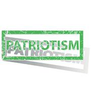 Green outlined PATRIOTISM stamp Stock Illustration