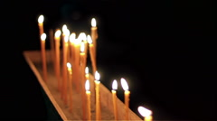 Stock Video Footage of Easter candles