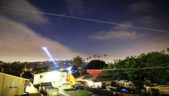 5K time lapse of LAPD Helicopter Searching for Suspect at Night -Full Frame- Stock Footage