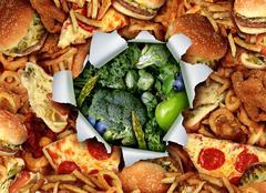 Diet Lifestyle Change - stock illustration