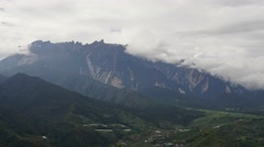 Mount Kinabalu time lapse during cloudy day Stock Footage