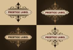 Set Logos template. Brand sign, identity for Restaurant, Royalty, Boutique - stock illustration